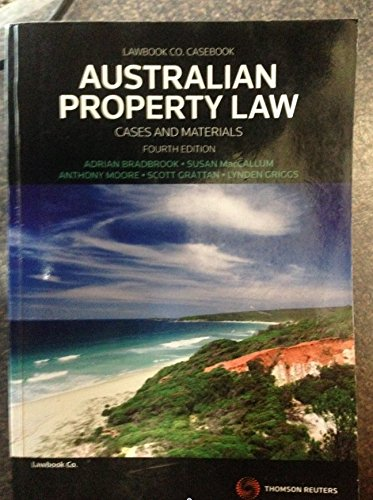 9780455227900: Australian Property Law Cases and Materials Fourth Edition