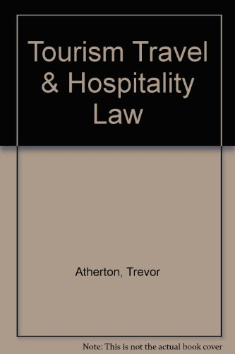 9780455228372: Tourism, Travel and Hospitality Law