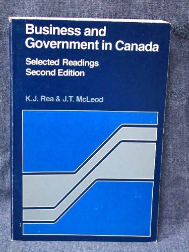 9780458903702: Business and government in Canada: Selected readings,