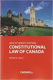 9780459240417: Constitutional Law of Canada