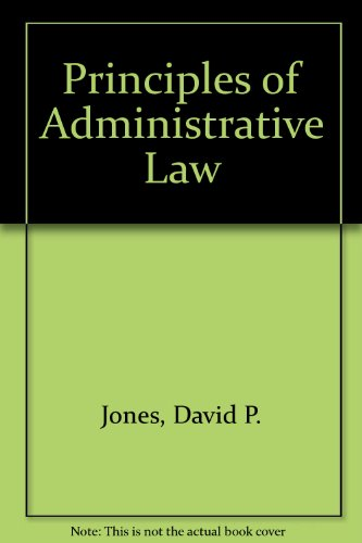 9780459241377: Principles of Administrative Law