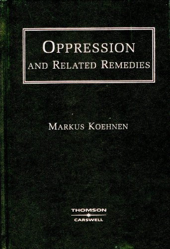 9780459241384: Oppression and Related Remedies