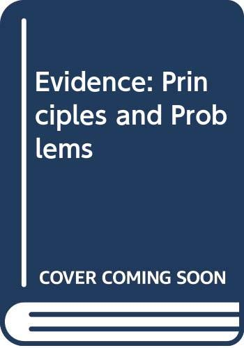 9780459241629: Evidence: Principles and Problems