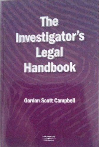 9780459242978: The Investigator's Legal Handbook
