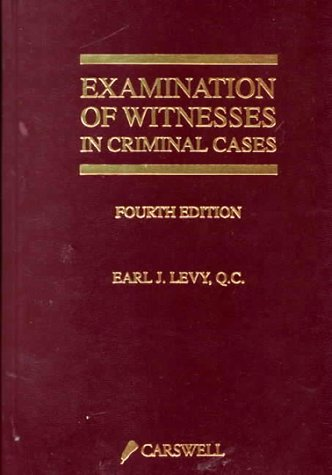 9780459260309: Examination of Witnesses in Criminal Cases