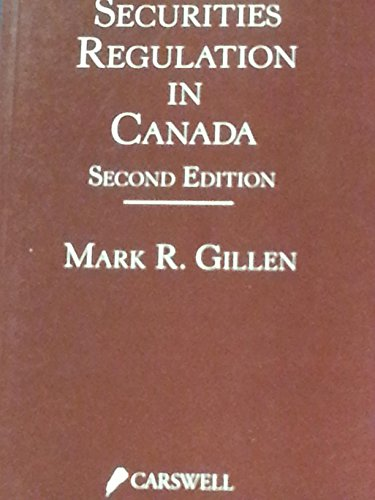 9780459262891: Secur Reg in Canada 2nd Ed