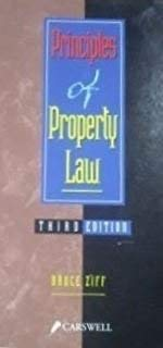 9780459276775: Principles of Property Law