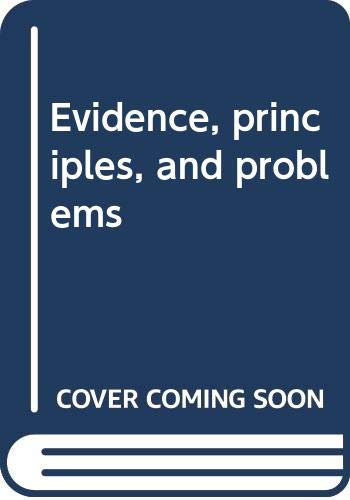 9780459333010: Evidence, principles, and problems