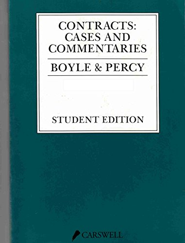 9780459336202: Contracts: Cases and commentaries
