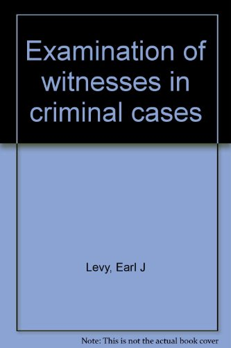 9780459355319: Examination of witnesses in criminal cases