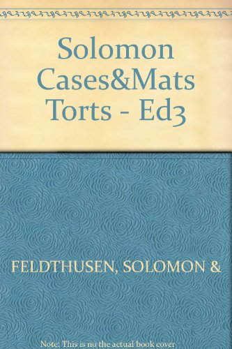 9780459358013: Cases and Materials on the Law of Torts