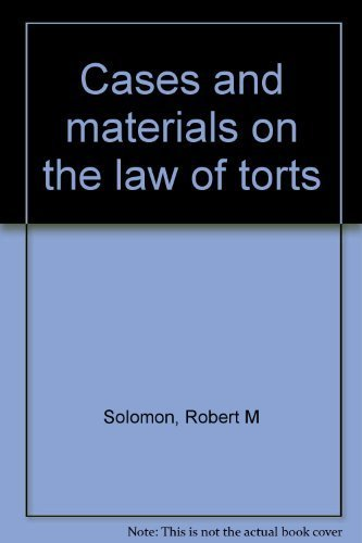 9780459358112: Cases and materials on the law of torts