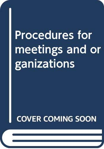 9780459361501: Procedures for meetings and organizations