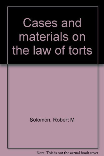 9780459385804: Cases and materials on the law of torts