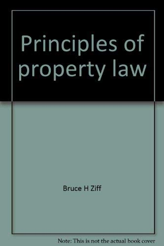 9780459551896: Principles of property law