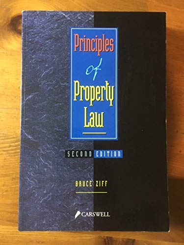 9780459553395: Principles of Property Law