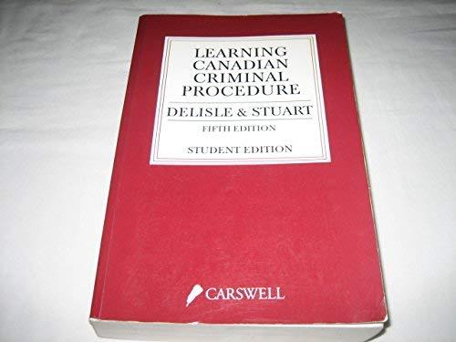9780459555580: Learning Canadian Criminal Procedure
