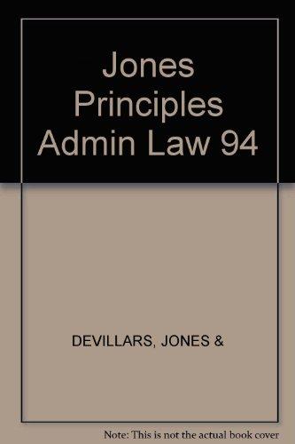 9780459558147: Jones Principles Admin Law 94