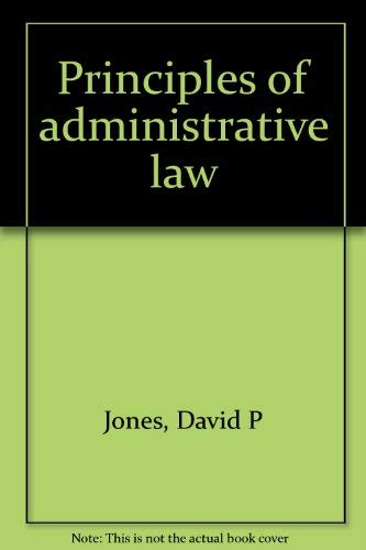 9780459558154: Principles of administrative law