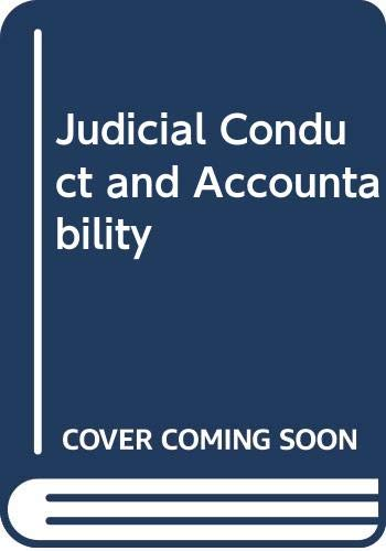 9780459559441: Judicial Conduct and Accountability