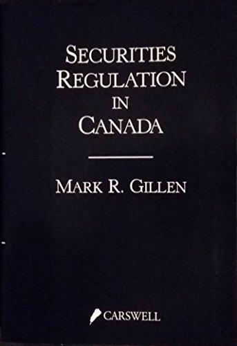 9780459568009: Securities regulation in Canada
