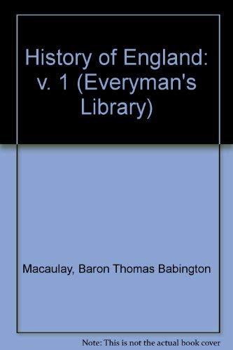 9780460000345: 1: History of England (Everyman's Library)