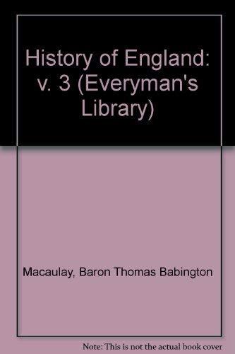 9780460000369: 3: History of England (Everyman's Library)