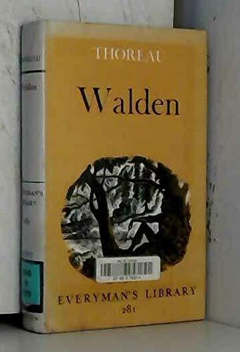 9780460002813: Walden (Everyman's Library, No 281)