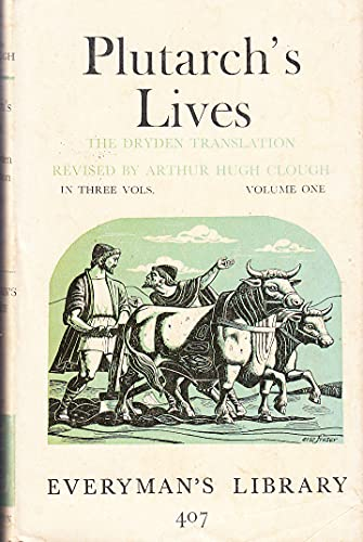 9780460004077: Lives of the Noble Grecians and Romans: v. 1 (Everyman's Library)