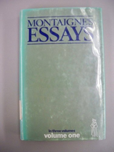9780460004404: Essays: v. 1 (Everyman's Library)
