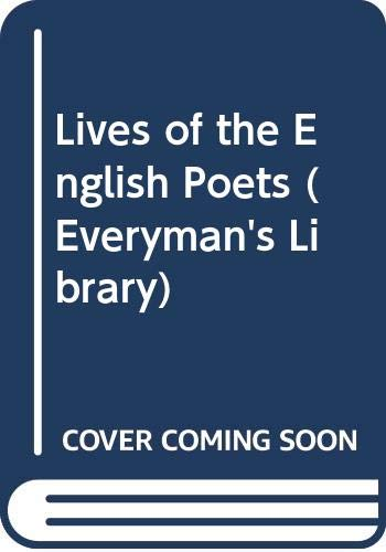 9780460007702: Lives of the English Poets (Everyman's Library) (v. 1)
