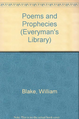 9780460007924: Poems of Prophecy (Everyman's Library)