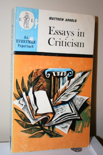 9780460011150: Essays in Criticism