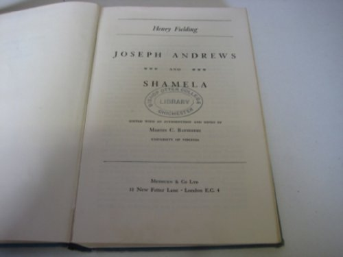 9780460014670: Joseph Andrews (Everyman Paperbacks)