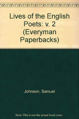 9780460017701: Lives of the English Poets (Everyman Paperbacks)