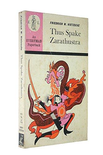 9780460018920: Thus Spake Zarathustra (Everyman Paperbacks)