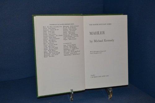 9780460021616: Mahler (Master Musician)