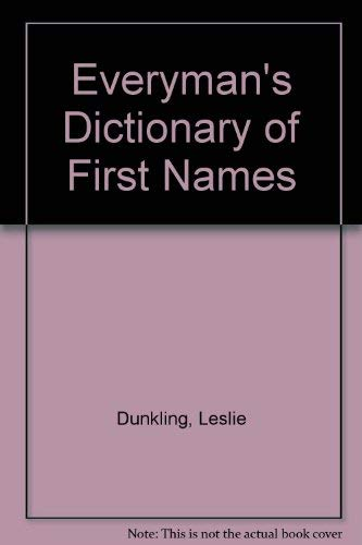 Everyman's Dictionary of First Names: Gosling, William