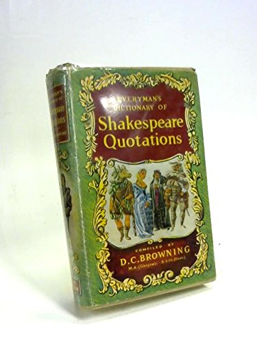 9780460030137: Everyman's Dictionary of Shakespeare Quotations