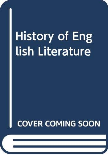 A History of English Literature: The Middle: Legouis, Emile; Cazamian,