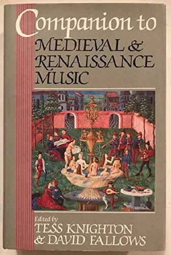 9780460046275: Companion to Medieval and Renaissance Music