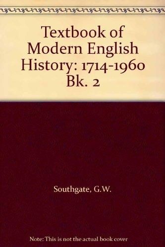 9780460093460: Textbook of Modern English History: 1714-1960 Bk. 2