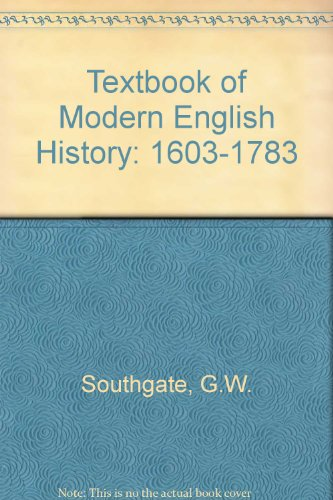 9780460093484: Textbook of Modern English History: 1603-1783 Section 2