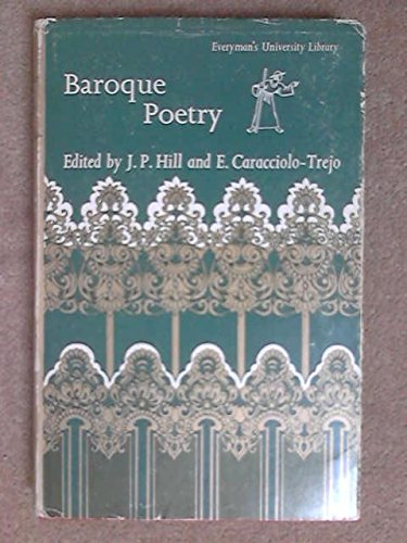 9780460103572: Baroque Poetry (Everyman's University Library)