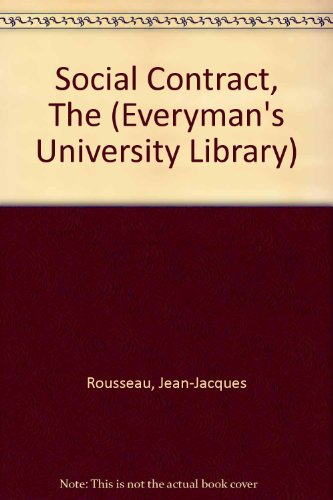 9780460106603: Social Contract, The (Everyman's University Library)