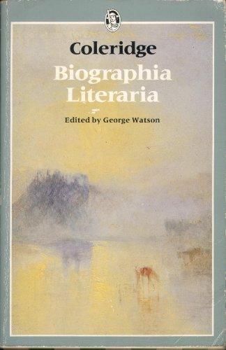 9780460110112: Biographia Literaria (Everyman Paperbacks)