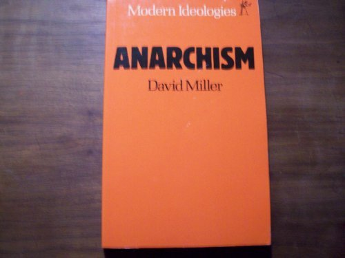 9780460110938: Anarchism (Modern Ideologies Series)