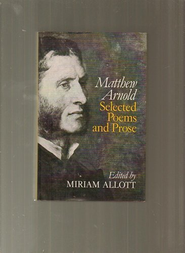 9780460119511: Selected Poems Prose/arno (Everyman's University Library)