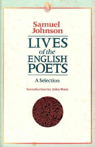 LIVES OF ENGLISH POETS: SAMUEL JOHNSON, JOHN