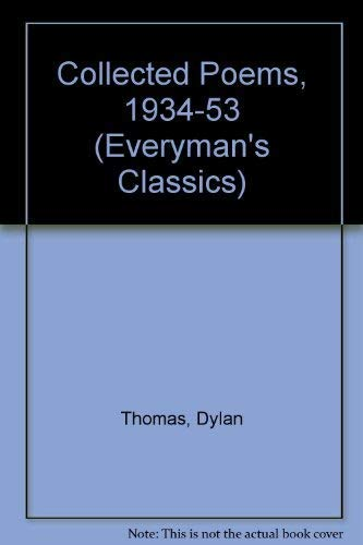 9780460870542: Collected Poems, 1934-53 (Everyman's Classics)